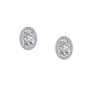 1.26 ct tw Halo Stud Earrings
