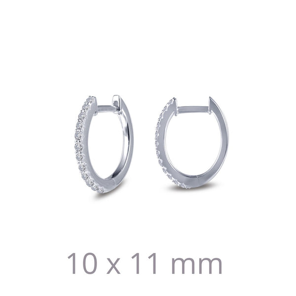 Dainty Oval Huggie Hoop Earrings