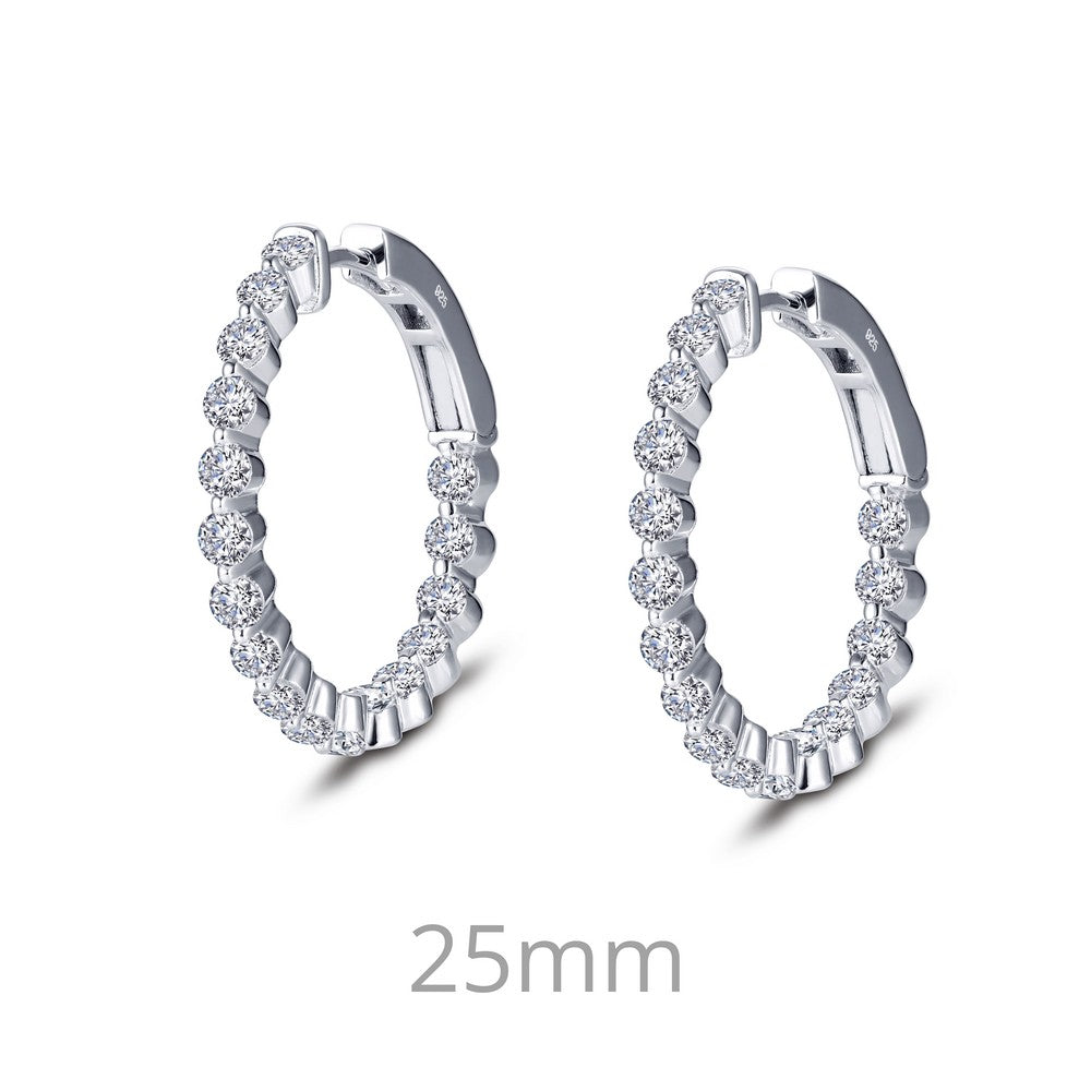 1.7 ct tw Hoop Earrings