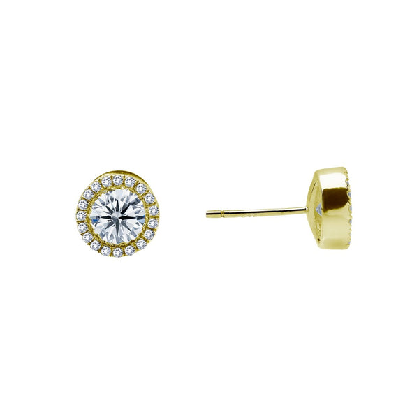 0.8 ct tw Halo Stud Earrings