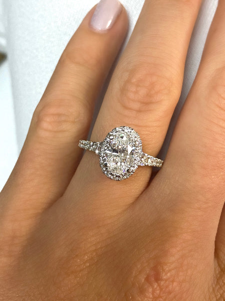 Custom Two-Tone Oval Engagement Ring