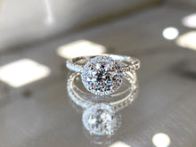 Load image into Gallery viewer, Round Halo Engagement Ring