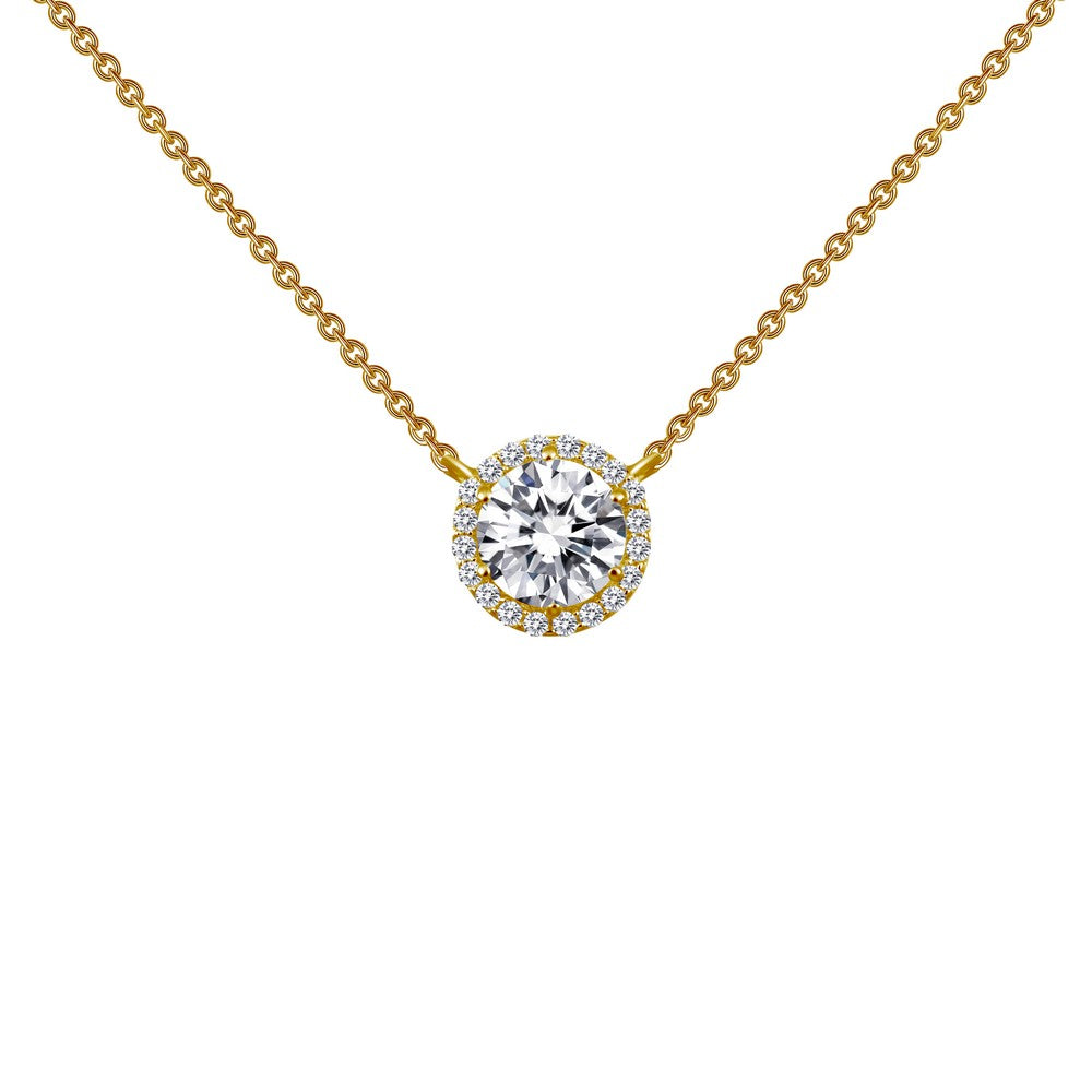 1.23 ct tw Halo Necklace