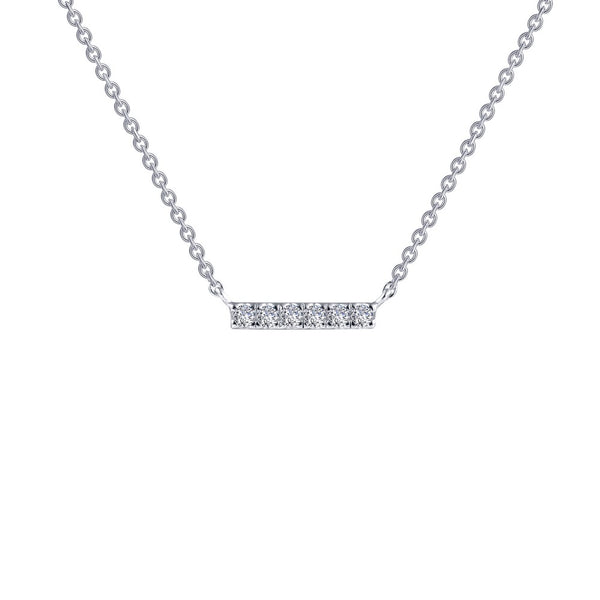 0.09 ct tw Dainty Bar Necklace