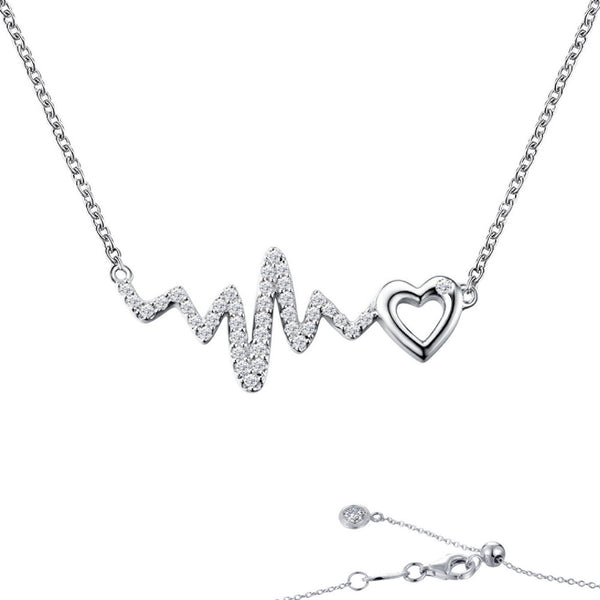 Heart & Heartbeat Necklace