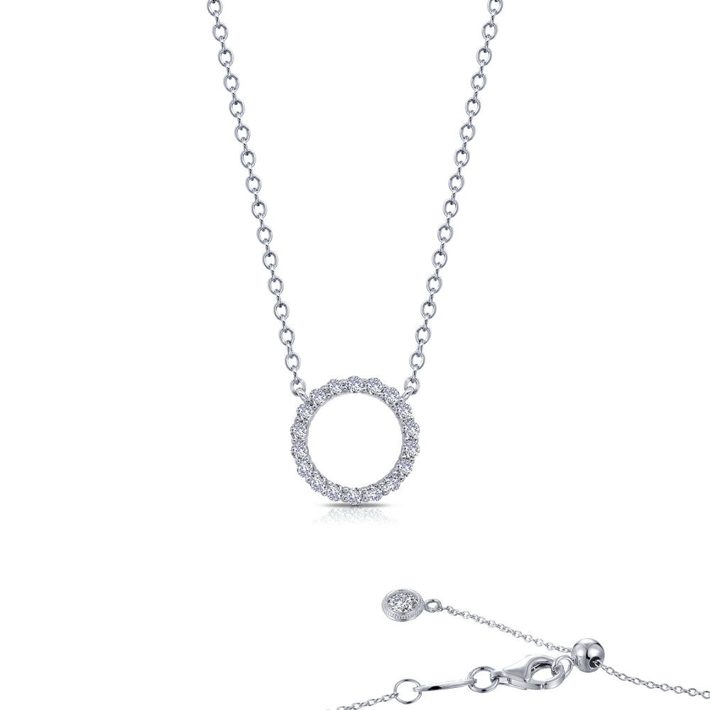 0.54 ct tw Open Circle Necklace