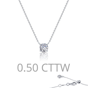 0.5 ct tw Solitaire Necklace