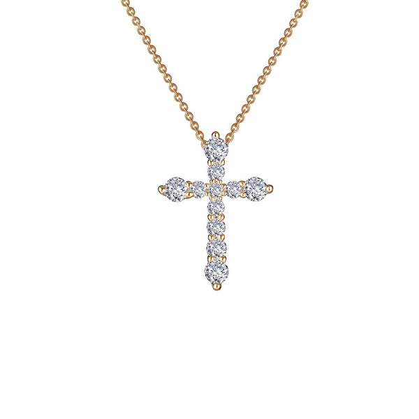 0.67 ct tw Cross Pendant Necklace