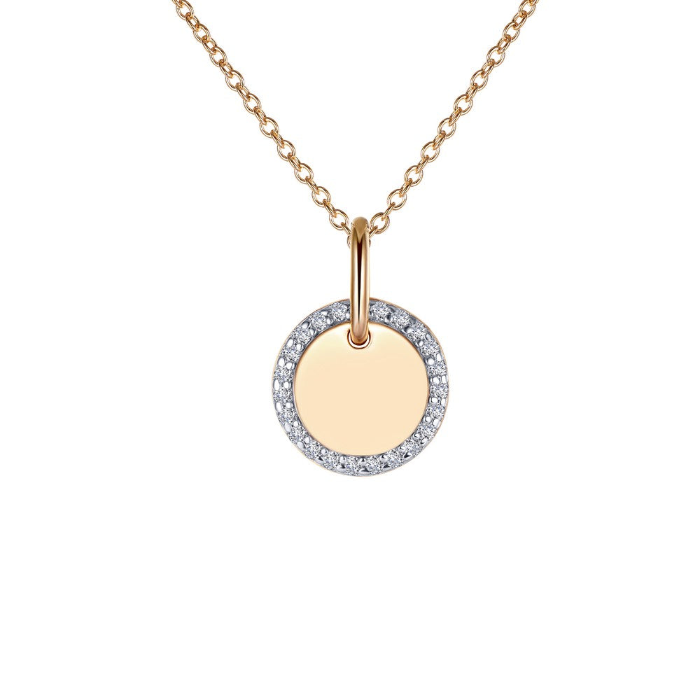 Round Disc Pendant Necklace