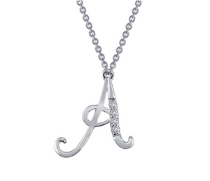 Script Initial Necklace