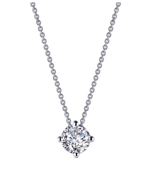 Round Solitaire Necklace