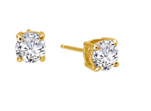 Load image into Gallery viewer, Round Solitaire Earrings