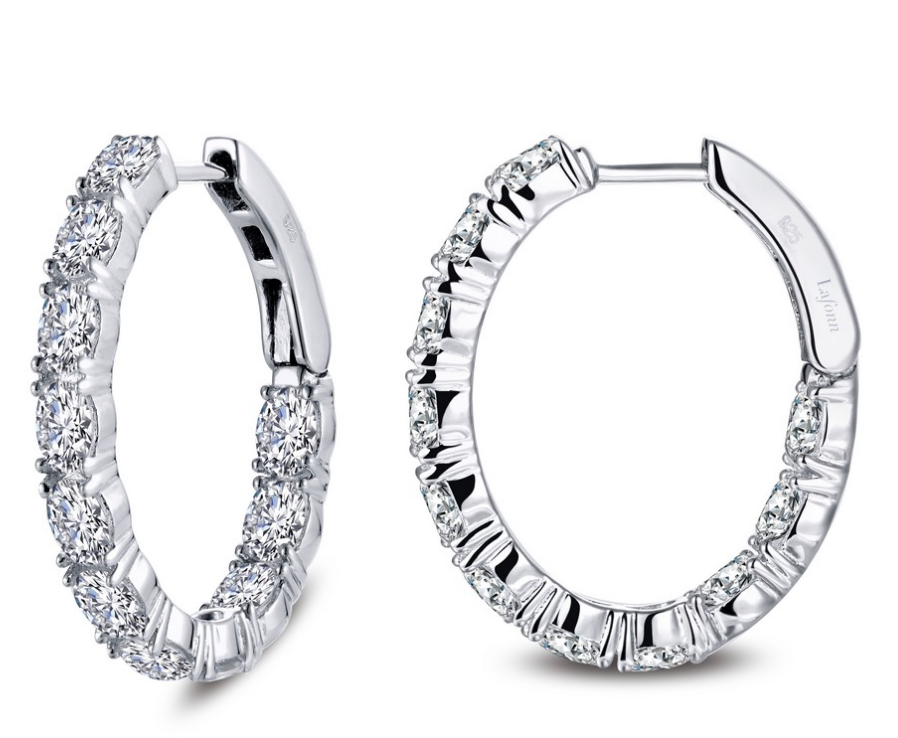 Oval Cut Oval Hoops