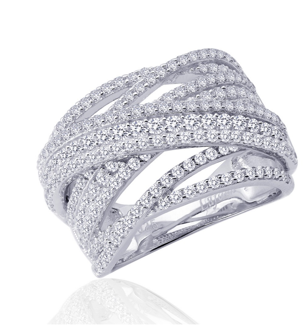 Pave Glam Wide Band