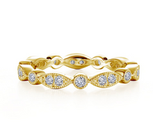 Load image into Gallery viewer, Marquise & Round Eternity Band