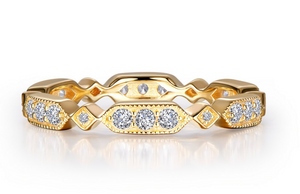 Geometric Alternating Eternity Band