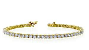Yellow Gold Plated Tennis Bracelet
