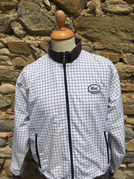 Vintage checked Lacoste zip up (S)
