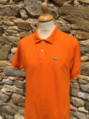 Block Orange Lacoste Polo