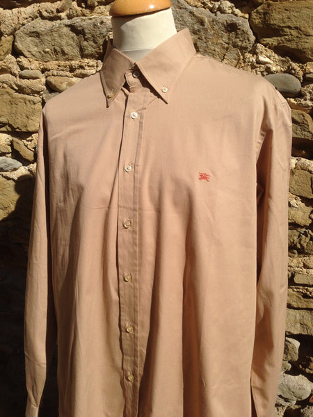 Orange on tanned Burberry Shirt (XL)