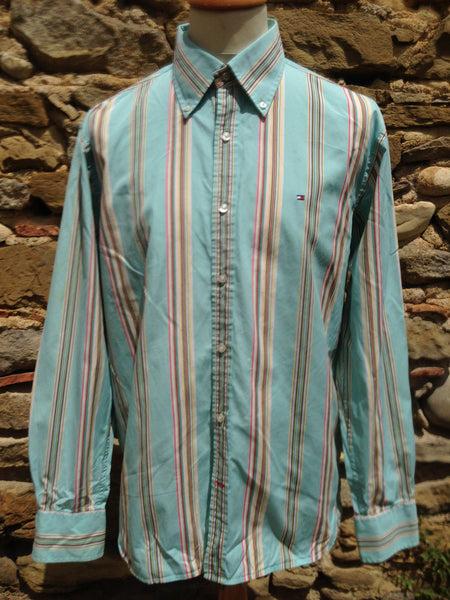 retro striped Hilfiger Shirt (M/L)