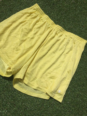 Vintage Pastel Yellow Champion shorts (L)