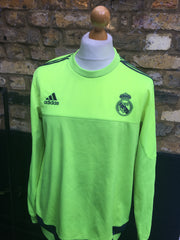 Lime Green Adidas x Real Madrid Sweater (M)