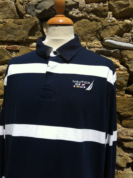 Nautica Flag striped Rugby Shirt (L/XL)