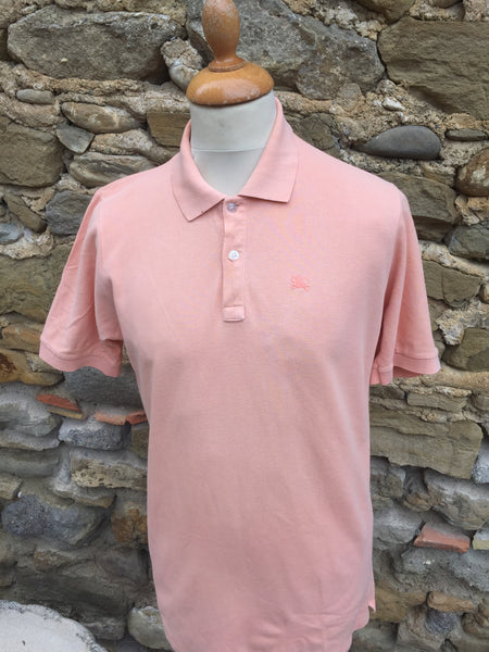 Vintage pastel Pink Burberry's Polo (S/M)