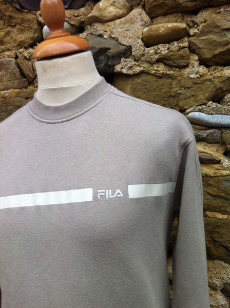 Vintage Tanned Barred Fila Pullover