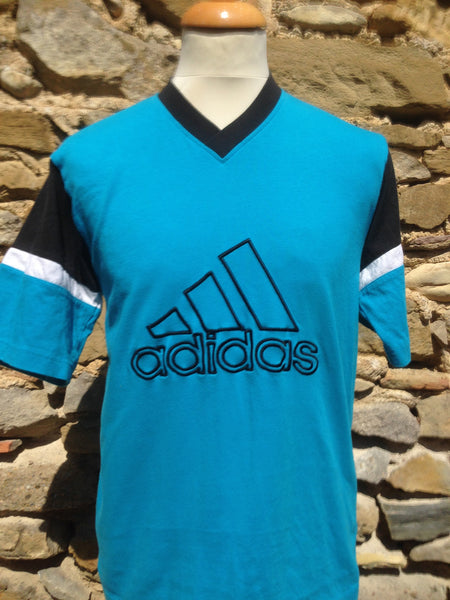 Vintage Teal adidas embroidery Top (S/M)