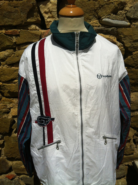 Vintage Sergio Tacchini Striped Sleeve Jacket