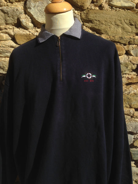 Vintage nautical Hugo Boss 1/4 Sweater
