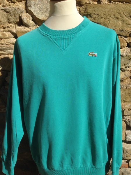 Vintage Teal Lacoste cord sweater (S/M)