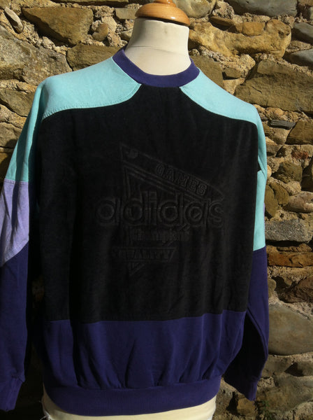 Vintage early Adidas engraved Champion Games Sweater