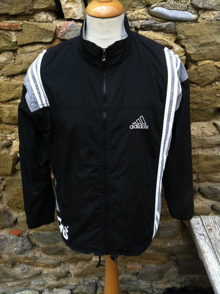 Vintage Adidas grey side Logo Jacket