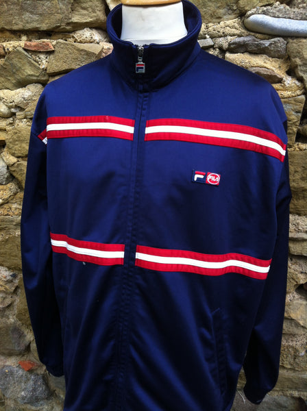 Vintage red stripe Fila Logo Track Jacket