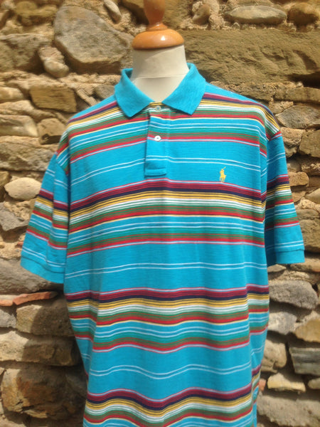 Striped linen Polo Shirt (XXL)