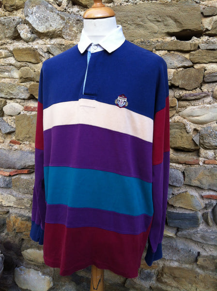 Vintage striped Chaps Ralph Lauren Rugby Shirt (L)