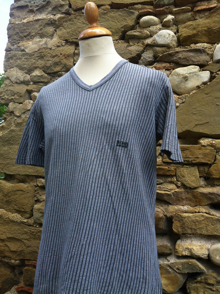 Linen striped Boss Top