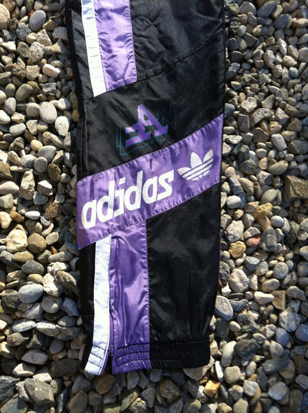 Vintage Purple Adidas Tre Foil Bottoms