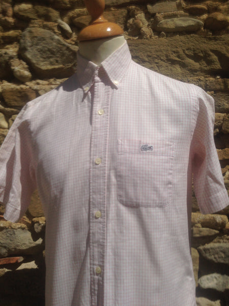 Vintage checked White Croc Lacoste Shirt (S/M)