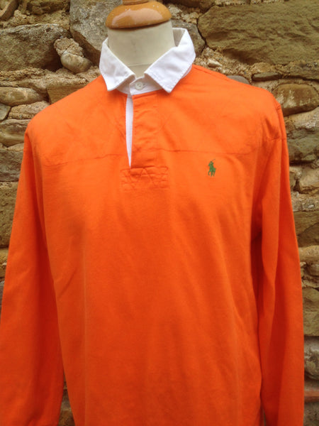 Green on Orange Polo Rugby (M)