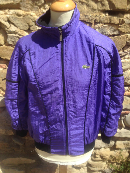 Vintage Purple pocketed Lacoste Windbreaker (XS)