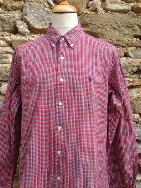 Red Checked Polo Shirt (XL)