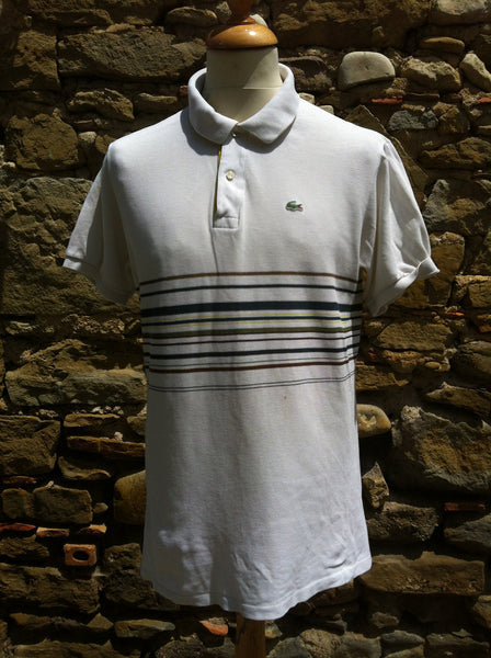 cef6d0806b536 Mixed Striped Lacoste Polo (M)