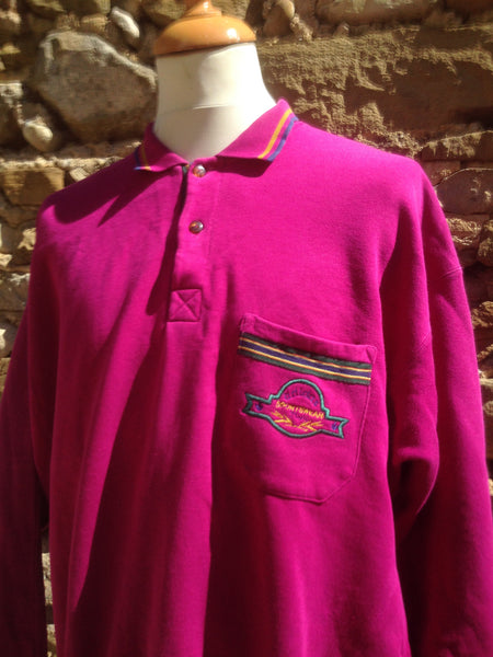 Vintage Purple Adidas pocket Sweater