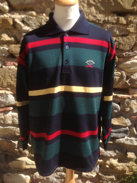 Vintage thick striped Paul & Shark Polo