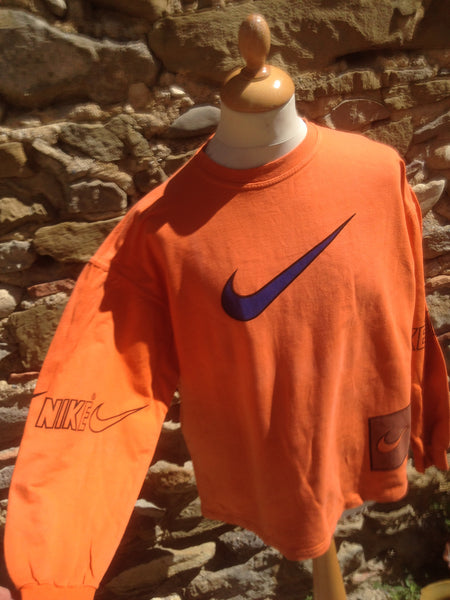 Vintage orange bootleg Nike long sleeve