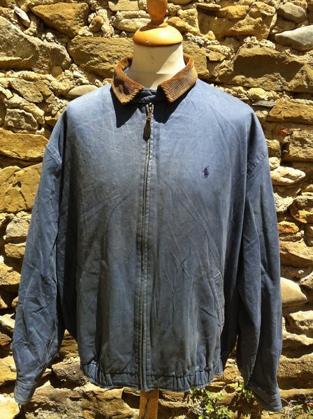 Seal Blue Polo Harrington